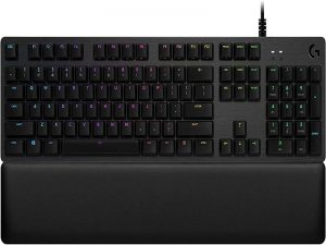 Logitech G513 RGB Backlit Mechanical Gaming Keyboard with Romer-G Tactile Key switches