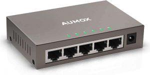 Aumox 5 Port Gigabit Ethernet Network Switch, Desktop
