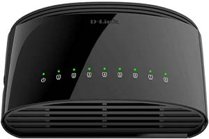 D-Link Ethernet Switch, 8-Port Gigabit Plug and Play Compact Design Fan-less Desktop (DGS-1008G)