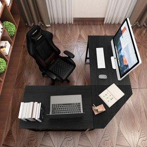 DlandHome L-Shaped Computer Desk