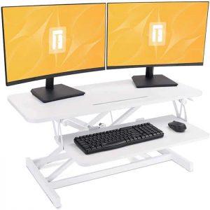 FEZIBO Standing Desk Converter Sit Stand Desk Riser Stand up Desk