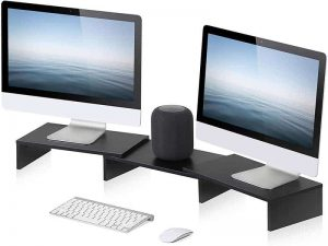 FITUEYES 3 Shelf Monitor-Stand Riser with Adjustable Length and Angle
