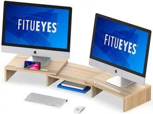 FITUEYES Computer Monitor Riser Desktop Laptop Stand