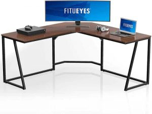 FITUEYES L Shaped Computer Desk