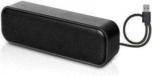 HONKYOB Laptop Speakers with Stereo Sound, Wired USB Power, Portable Mini Sound Bar