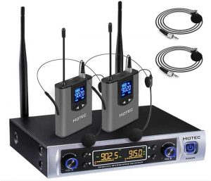 Hotec UHF Dual Wireless Microphone System- (H-K25)
