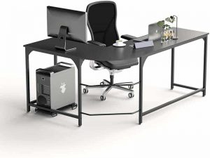 L Shaped Office Desk, Reversible Corner Gaming Computer Desks
