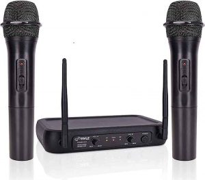 Pyle Channel Microphone System-VHF Fixed Dual Frequency