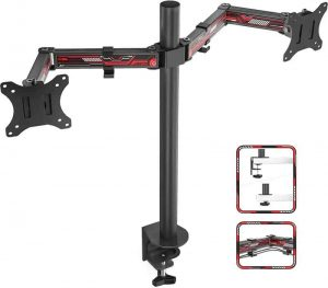 DESTINO Dual Monitor Stand- Fully Adjustable Monitor Arm Desk Mount