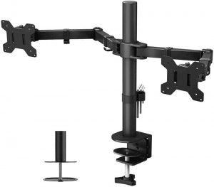 Dual Monitor Mount For 13-27-Inch LCD LED Monitor Computer PC Screens