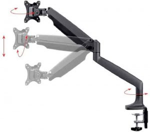 NB North Bayou Dual Monitor Desk Mount Stand Full Motion Swivel Computer Monitor Arm