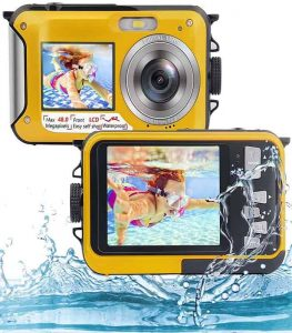 Underwater Camera Full HD 2.7K (Yellow)