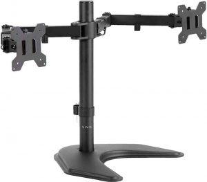 VIVO Dual LCD Monitor Free-Standing Desk Mount
