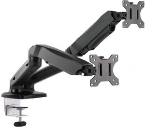 WALI Dual LCD Monitor Fully Adjustable Gas Spring Desk Mount