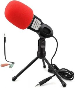 Condenser Microphone, Computer Microphone, SOONHUA 3.5MM Plug, And Play Omnidirectional Mic