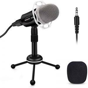 PC Microphone, ELEGIANT Y20 Portable Condenser Microphone 3.5mm Microphone 1