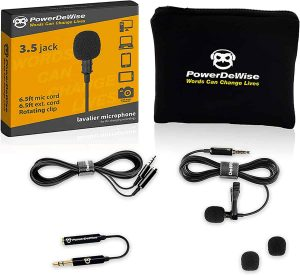Professional Grade Lavalier Lapel Microphone Omnidirectional Mic 1