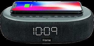 iHome TIME BOOST Qi-Certified Wireless Charging Alarm Clock